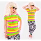 4523 Cotton Shirt, Blouse, Summer Stripes