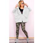 C24229 Women Oversize Hoodie, Plus Size Jacket