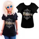 K555 Cotton T-Shirt , Top, Gold Brave, Black