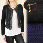 BI318 CHARMING JACKET, CHANELKA, QUILTED INSERTS