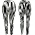 Women Pants, V Pattern, High Waist, S-2XL, C17717