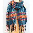 B11478 Grand foulard, carreaux, châle, tricots cha