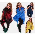 EM18 Fur Jacket, Poncho Vest, Mix Colors
