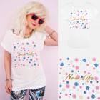 A887 Cotton Women T-Shirt , Top, New Life, White