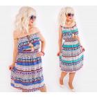C17517 Robe Femme, Style Marocain, Plumes