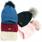 Warm Womens Hat, Cap, Pompon and Fleece, 5099