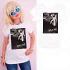 K569 Baumwoll- T-Shirt , Oberteil, Live Night Whit