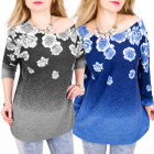 C11419 Casual and Warm Tunic, Roses and Ombre