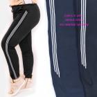 Women's sports pants, stripes, M - 4XL, 5714