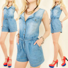 BI447 TOP OVERALL, JEANS, SHORTS, coton