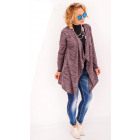 R69 Long & Loose Cardigan, Jacket, Burgundy