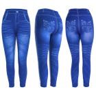 Damen Jeans Leggings, mit Aufdruck, UNI, 5891