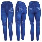 Damen Jeans Leggings, Rosendruck, UNI, 5892