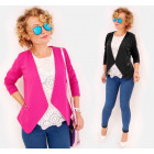 C24235 Elegant loose Jacket, Cardigan with Sliders