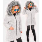 C24247 Winter Women Jacket with Hood & Fur, bukle
