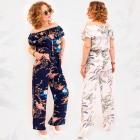 C17665 Costume pour femme, imprimé floral global,
