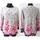 Patterned blouse, large sizes, L-4XL, 5665