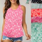 Summer thin blouse, heart pattern, top, M-XL, 6529