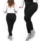 B16784 Elegant Black Jeans, Plus Size up to 48