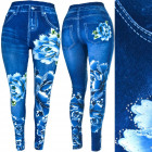 Leggings, Women Jeans with Jets, Blue World C17731