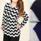 4143 Blusa de moda, túnica, talla grande, patrón d