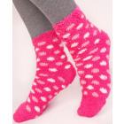 SOF17 Furry, Terry Warm Socks, 35-38 Polka Dots
