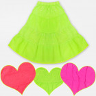 A19126 GirlsEmbroidered Skirt, Neon Colors 6-14