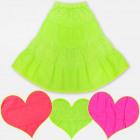 A19126 GirlsJupe brodée, couleurs néon 6-14