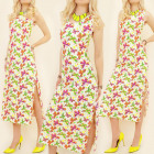 K416 SUMMER DRESS, COLOR BUTTERFLIES, MAXI