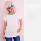 A881 Baumwoll- T-Shirt , Spitzendruck, Weiß