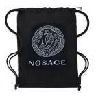 4812 Large Backpack, Canvas Bag, Nosace, Black