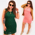 BI802 Plus Size Lace Dress up to 54, Buttons