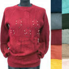 Classic Loose Sweater For Women, Pearls, R121