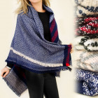 FL267 ORIGINAL shawl cape, PLAID, ponchos