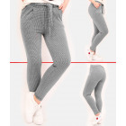 A857 Women Pants, Knotted Stripe, Checkered
