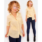 R32 Elegant, Lemon Shirt, Women Blouse, Classic