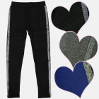 A19157 Girls Leggings, Pants, Glitter Stripe