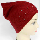CZ05 Warm Woman Hat, Cap, Pearls and Fleece
