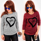 Romantic Blouse, Heart Print, My Love 4486