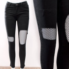 B16830 Eye-catching Women Jeans, Fishnet Insert