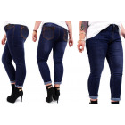 B16780 Women Jeans Pants, Plus Size, Strap & Jets