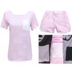 Women Set, Blouse + Shorts, cotton , UNI 5267