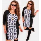 4401 Pencil Dress, Slim Plus Size, Daisies