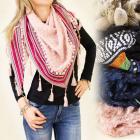 FL263 TRIANGULAR foulard, PATRONS ETHNIQUES
