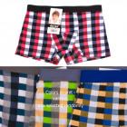 Boys Boxer Shorts, Colorful Lattice, 6-12 Years Ol