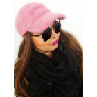 A1250 Women Warm Baseball Cap, Fluffy Angora