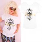 K554 Cotton T-Shirt , top, oro Coraggioso, Bianco