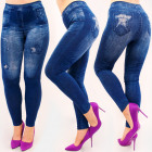 4710 Leggings Jeans, Sternendruck, hohe Taille