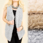 C17272 Soft Vest, Sleeveless Vest, Fur