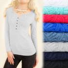 D2665 Cotton Blouse Top, Impressive Lace